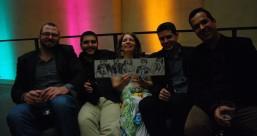 Die Band Vila Brasil mit Ze Paolo Becker(rechts), ein Genuss diese fröhlichen, lachenden Menschen zu malen!