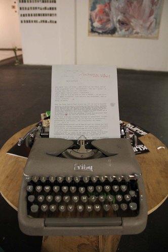 die interkative Rede: wird während der Vernissage von allen geschrieben.