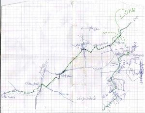 Etappe 2: von Schneverdingen (nicht eingezeichnet) nach Lüneburg. Etappe 1 war Celle - Schneverdingen.