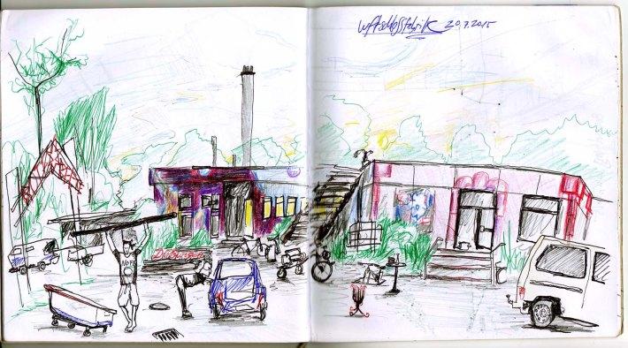 Die Luftschlossfabrik - ein besetztes Haus am flensburger Hafen