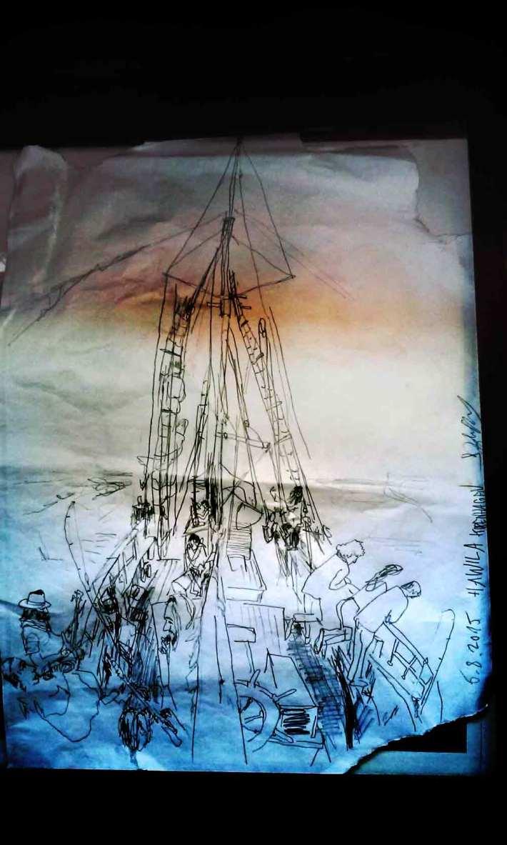 Hawila-Zeichnung wurde auf der Theke mit einem Smartphone abgelichtet und sieht deswegen nach Bearbeitung etwas komsich aus.
