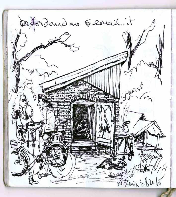 Eines der ersten Häuser Christianias, die ich gesehn habe. Der Bewohner hat mich eingeladen, als er gegangen ist, doch noch in seinen Garten zu schauen, der wär so schön. Hab ich mir angesehn, Tatsache, Recht hat er! Mit Seeblick.