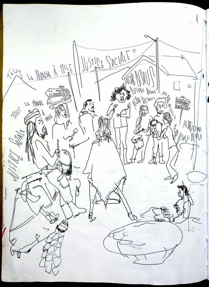 la batukata, die Samba-Gruppe hat nicht nur während der Demo für Stimmung gesorgt.
